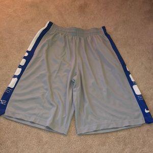 gray & royal blue shorts